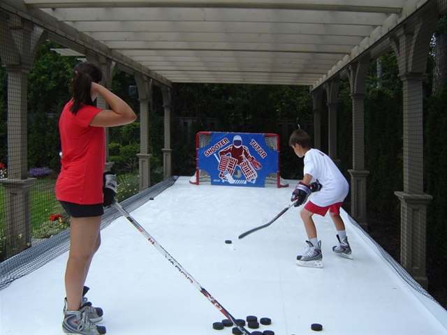 Langner Renovations Synthetic Ice Rinks - Backyard synthetic ice rink